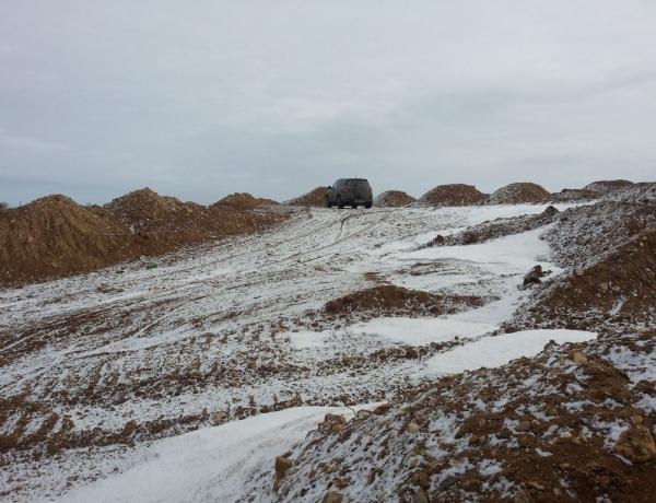 Весь необходимый объем ПГС для строительства дорог уже на месте